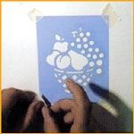 Réalisation d'un Pochoir avec la peinture Markal