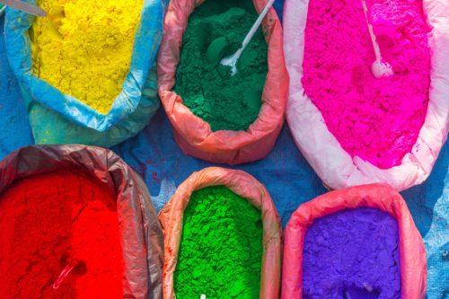 Poudre coloré, teinte