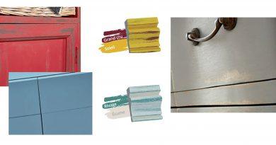 Réaliser 4 effets peinture Charme sur meuble